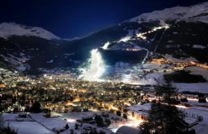 Pista Stelvio notturna Bormio Valtellina