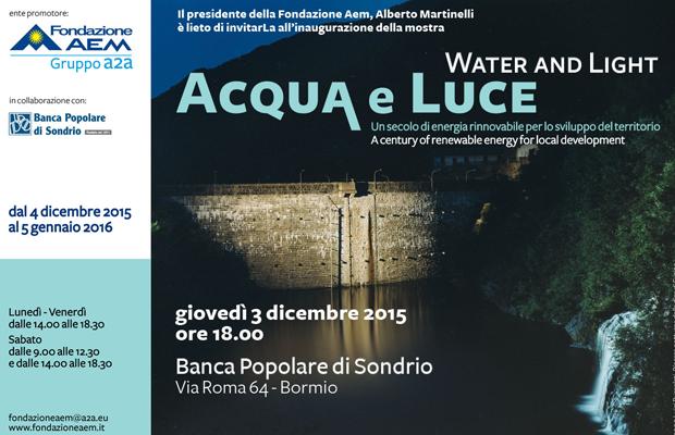 Mostra a Bormio: Acqua e Luce